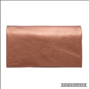 Latico leather Eloise metallic wallet copper